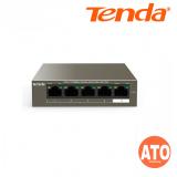 Tenda TEF1105P-4-63W 5-Port 10/100Mbps Desktop PoE Switch with 4-Port PoE -3Years Warranty