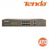 Tenda TEF1210P-8-150W 8-Port 10/100M  + 2-Port Gigabit TP/SFP Combo PoE Web Smart  Switch -3Years Warranty