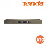 Tenda TEF1210P-8-150W 16-Port 10/100M + 2-Port Gigabit TP/SFP Combo PoE Web Smart  Switch -3Years Warranty