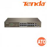 Tenda TEF1118P-16-150W 16 10/100Mbps +1 Gigabit/SFP Slots Switch With 16-Port PoE -3Years Warranty