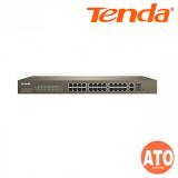 Tenda TEF1226P-24-440W 24-Port 10/100M + 2-Port Gigabit TP/SFP Combo PoE Web Smart  Switch -3Years Warranty