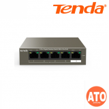 Tenda TEG1105P-4-63W 5-Port Gigabit Desktop Switch with 4-Port PoEPort 1 to Port 4 -3Years Warranty