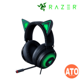 Razer Kraken Kitty - Quartz | Black (Chroma Kitty Ears & Earcups, Stream-reactive Lighting, ANC Mic, THX Spatial Audio, Cooling-gel Cushions)