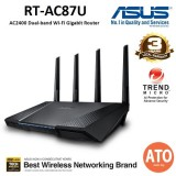 Asus (RT-AC87U) AC2400 Dual-Band Gigabit WiFi Router with MU-MIMO, AiProtection network security powered by Trend Micro, Adaptive QoS and Parental Control