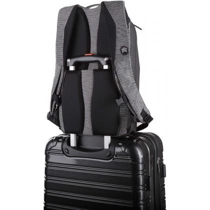STM Myth 28L Backpack - Granite Black   Slate Blue   Windsor Wine