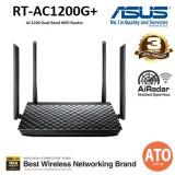 Asus (RT-AC1200G+) AC1200 Dual Band WiFi Router with four 5dBi antennas and Parental Controls, smooth streaming 4K videos from Youtube and Netflix
