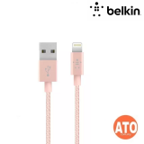 """Belkin SYNC/CHARGE CABLE,BRAIDED,LTG,2.4A,6"""" #2-YEARS Limited Warranty"""