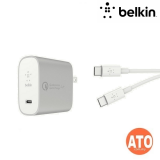 Belkin BOOST↑CHARGE™ USB-C™ 27w Home Charger w/ C-C Cable #2-YEARS Limited Warranty