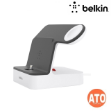 BELKIN VALET CHARGE DOCK FOR APPLE WATCH/iPHONE,PLSTC,WHT