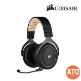 CORSAIR HS70 PRO WIRELESS Gaming Headset- Cream/ Carbon