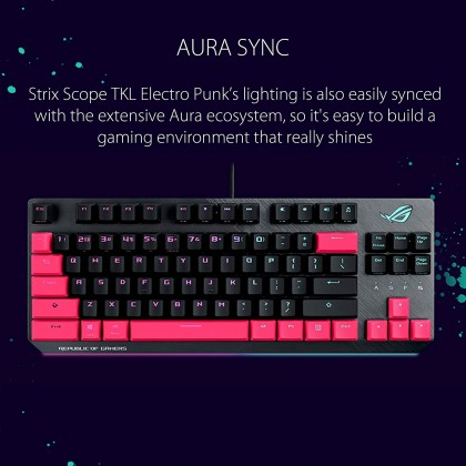 ASUS ROG X803 Strix Scope TKL Electro Punk Keyboard
