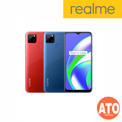Realme C12 (3+32GB) FREE Realme Buds + Screen Magnifier + Clear Casing - Red I Blue **1 Year Warranty