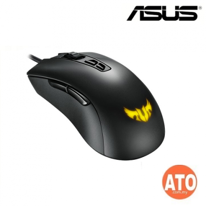 ASUS TUF Gaming M3 ergonomic wired RGB gaming mouse with 7000-dpi sensor, lightweight build, durable coating, heavy-duty switches, seven programmable buttons and Aura Sync