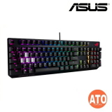 ROG Strix Scope RGB wired mechanical gaming keyboard with Cherry MX switches, aluminum frame, Aura Sync lighting and additional silver WASD for FPS games