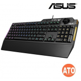 ASUS TUF Gaming K1 RGB keyboard with dedicated volume knob, spill-resistance, side light bar and Armoury Crate