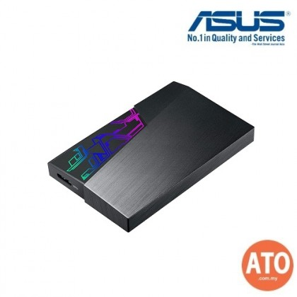 ASUS EHD-A2T/2TB/BLK/WW ASUS FX External Hard Drive - 2.5-inch External Hard Drive, Aura Sync RGB, USB 3.1 Gen1, 256-bit AES Encryption, Automatic Backup