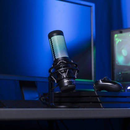HyperX QuadCast S RGB USB Condenser Gaming Microphone Suitable for Streaming / Podcasting