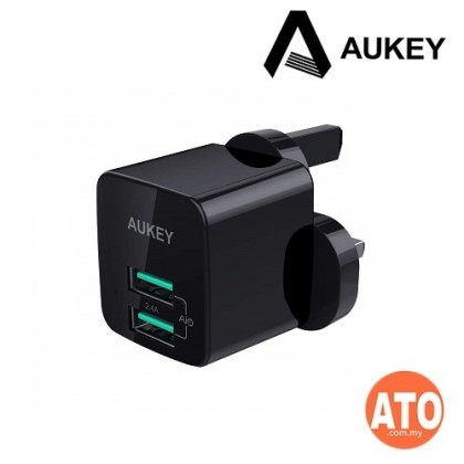 Aukey PA-U32 12W Universal Dual Port AiPower Mini Portable Travel Charger