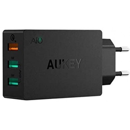 Aukey PA-T14 3 Port USB Qualcomm Quick Charge 3.0 Travel Charger