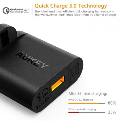 Aukey PA-T9 19.5W Qualcomm Quick Charge 3.0 USB Travel Wall Charger