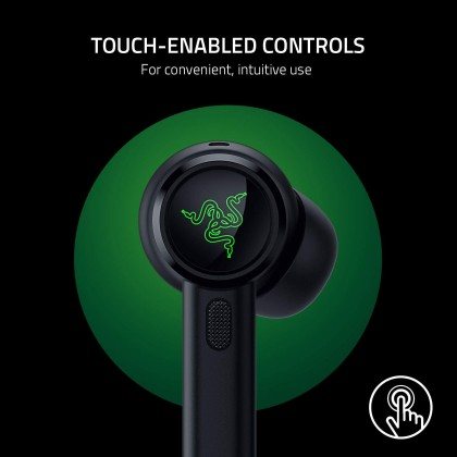 Razer Hammerhead True Wireless Pro (10 mm Drivers, Adv Hybrid ANC, 60ms Low Latency, Earbds: 4hrs + CC: 16hrs)