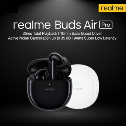 Realme Buds Air Pro Active Noise cancellation up to 35dB | 25hrs Total Playback *1 Year Warranty*