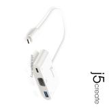 J5 JCA378 USB Type-C to VGA/USB 3.0 Hub/PD 2.0