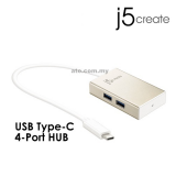 J5 JCH343 USB Type-C 4-Port (4A) Hub