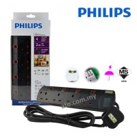 Philips Power Extension Cable with 4 Gang Way (Heavy Duty)