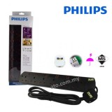 Philips Power Extension Cable with 6 Gang Way (Heavy Duty)