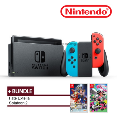 Nintendo Switch with Joy-Con FREE 2 Games