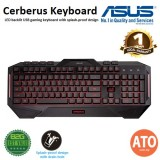 ASUS Cerberus Keyboard LED backlit USB gaming keyboard with splash-proof design