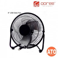 Ooree USB Desk Fan With On/Off Button (Black | Red)
