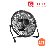 "Ooree USB Desk Fan With On/Off Button 8"" (Black 