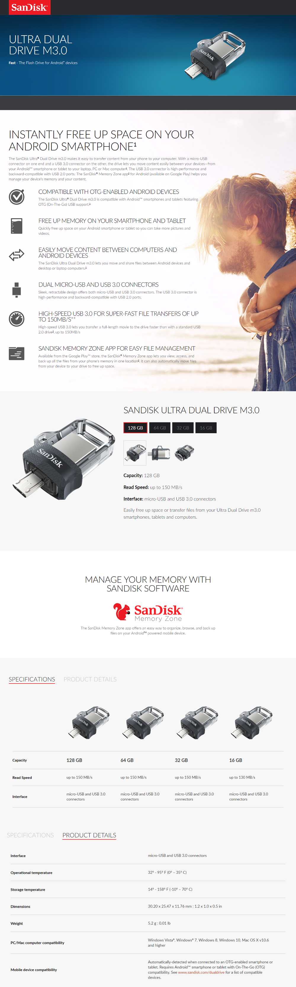 Sandisk 64gb Ultra Dual Drive M30 30 1x
