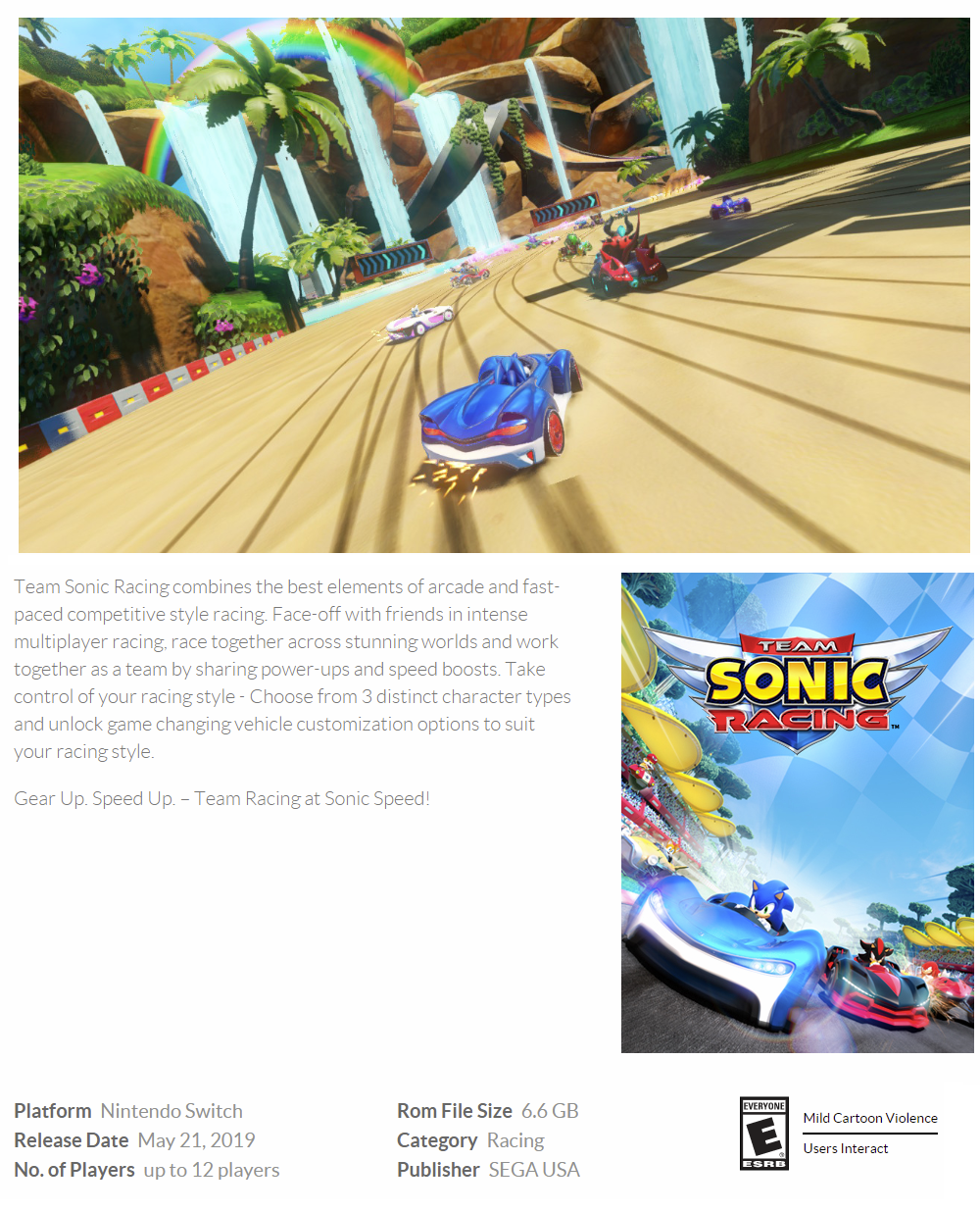 Team Sonic Racing for Nintendo Switch (ASIA)